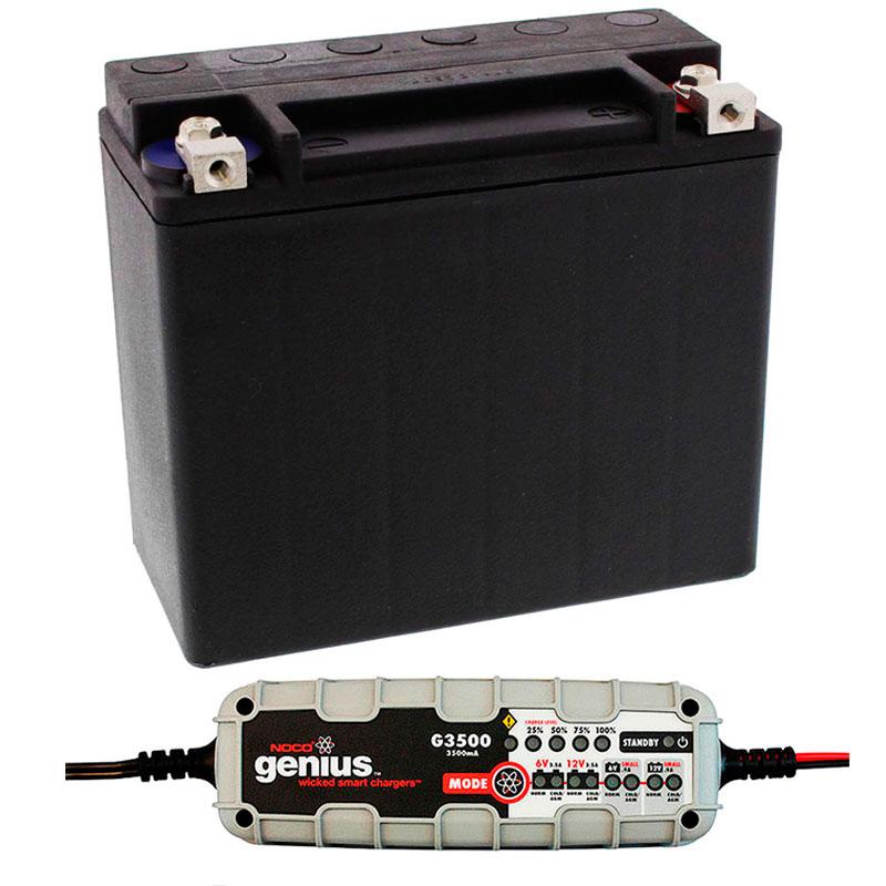 Conjunto de batería y cargador mantenedor para Harley