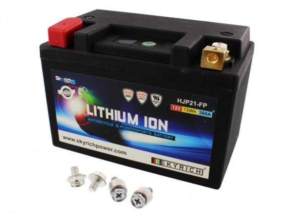SKYRICH Baterías de litio para moto con protector de sobrecarga